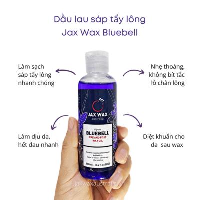 Dầu lau sáp tẩy lông Jax Wax Bluebell 100ml