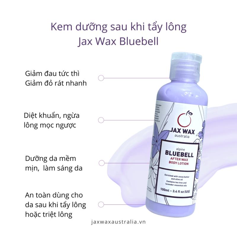 Kem dưỡng sau khi tẩy lông Jax Wax Bluebell 100ml