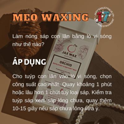 Cách làm nóng sáp wax con lăn bằng lò vi sóng