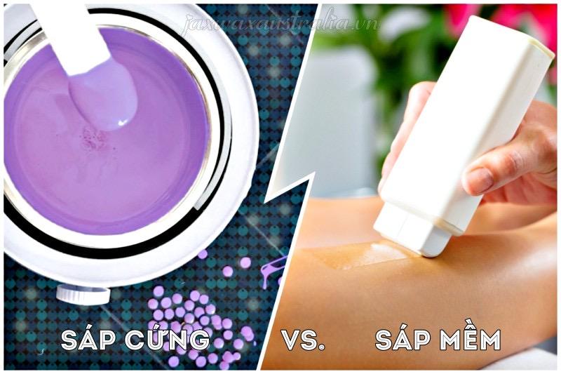 Sự khác nhau giữa sáp wax lông cứng và mềm