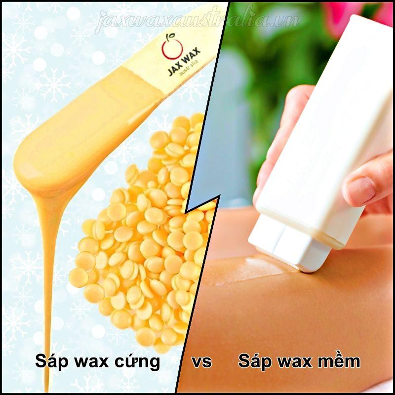 Sự khác biệt giữa sáp wax lông cứng và mềm